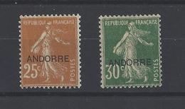 ANDORRE. YT  N° 9-10  Neuf *  1931 - Andorre Français