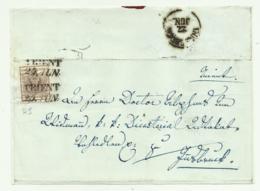 FRANCOBOLLO DA 6 KREUZER TRIENT SU FRONTESPIZIO - 1850-1918 Imperium