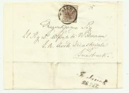 FRANCOBOLLO DA 6 KREUZER TRIENT  SU FRONTESPIZIO - 1850-1918 Keizerrijk