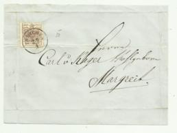 FRANCOBOLLO DA 6  KREUZER INNICHEN   SU FRONTESPIZIO - 1850-1918 Empire