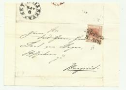 FRANCOBOLLO DA 3  KREUZER BOTZEN   SU FRONTESPIZIO - 1850-1918 Imperium