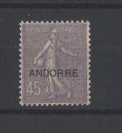 ANDORRE. YT  N° 14  Neuf *  1931 - Andorre Français