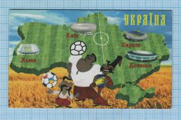 UKRAINE / Flexible Magnet / Football Europe Championship UEFA EURO 2012 Cities. Sports Stadiums. Cartoon Cossacks. - Sport