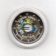 Cipro - 2012 - Moneta Da 2 Euro - Decennale Euro - Colorato - In Capsula - (MW2060) - Cipro