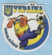 UKRAINE / Flexible Magnet / Football The National Team Of The Country. Cossack. - Sports