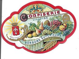 Belle étiquette Confiserie Lilloise. Bonbons Supérieurs, MT Lille. - Vieux Papiers