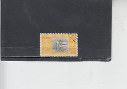 BOLIVIA  1951 - Yvert  322 - Sport - Calcio - Bolivia