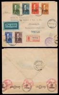 FINLAND. 1942 (16 Dec). Aanislinna - Germany. Ita - Karjala Overprinted Issue. Airmail Registered Doble Censored Env. Fi - Finland