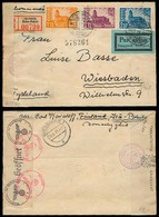 FINLAND. 1941 (17 Sept). Ostka - Pakila - Germany. Registered Air Doble Censored Multifkd Env. VF. - Finland