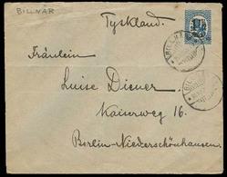 FINLAND. 1921. Billnar - Germany. Fkd Env / Ovptd Issue. - Finland