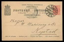 FINLAND. 1900. Abo - Nystad. 10p Stat Card. - Finland