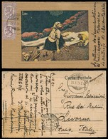FINLAND. 1924 (23 Oct). Kuhmoinb - Italy. Ilustr Fkd PPC Skulls + Famine. - Finland
