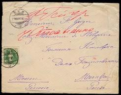 SWITZERLAND. 1889. Bex - Russia / Kurskova Province. Dest Fkd Env. - Switzerland