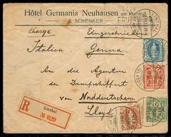 SWITZERLAND. 1907. Linthal - Italy. Color Fkg Mixed Issues / Better Vals. Arrival Cds. Stline FRUTTBERG / GLARUS. - Switzerland