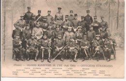 L200A_499 - Militaria - Grandes Manoeuvres De L'Est (Sept 1904) - Officiers Etrangers - Personnages