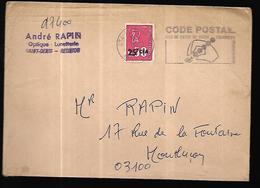 La Réunion   Lettre  Publicitaire   De 1974  Pour Montluçon - Reunion Island (1852-1975)