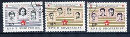 ALBANIA 1986 Liberation Fighters, Used.  Michel 2296-98 - Albanie