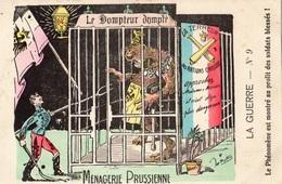 "CARTE SATIRIQUE ANTI KAISER ""MENAGERIE PRUSIENNE"" - War 1914-18"