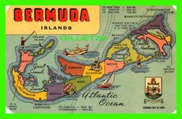 CARTE GÉOGRAPHIQUE - BERMUDA ISLANDS - YANKEE STORE - - Cartes Géographiques