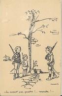 Cpa Illustrateur Poulbot Signée ,1915, N°70 , En Avant Par 4! Marche ! - Poulbot, F.