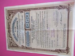 Caisse Fraternelle De Capitalisation/ Titre épargne Au Porteur Entièrement Libéré/ LILLE/ 1953         ACT237 - Banque & Assurance