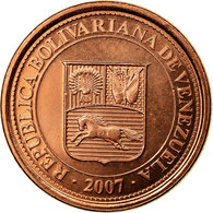 Monnaie, Venezuela, Centimo, 2007, Maracay, SUP, Copper Plated Steel, KM:87 - Venezuela