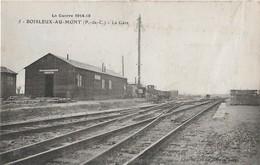 Boisleux Au Mont (1919) La Gare - Gares - Sans Trains