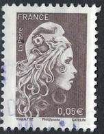 France 2018 Oblitéré Rond Used Marianne L'engagée D'Yseult Digan 0,05 Euro Brun - 2018-... Marianne L'Engagée