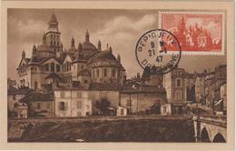 Carte-Maximum FRANCE N° Yvert 774 (Cathédrale De PERIGUEUX) Obl Sp 21.1.47 ( Ed Vergez 7) - Maximum Cards