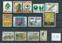 Libanon 13x Stamps Used/gebruikt/oblitere(D-79) - Libanon