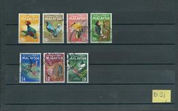 1965 Malaysia 7x Birds,oiseaux,vögel,vogels Stamps Used/gebruikt/oblitere(D-21) - Maleisië (1964-...)