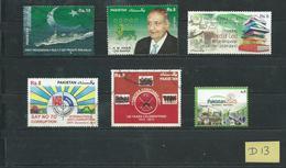 Pakistan 6x Modern/recent Stamps Used/gebruikt/oblitere(D-13) - Pakistan