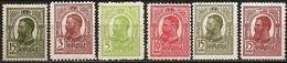 Romania 1909-18 Scott 217-220 222 223 Typo (no 221) MNH Charles I / Carol I - Unused Stamps