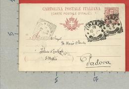 CARTOLINA POSTALE VG ITALIA - Tipo Floreale V. Emanuele III - MARIO STENTA 1906 - S. CP30 MILL. 05 - Interi Postali