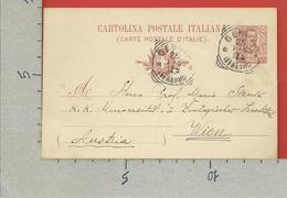 CARTOLINA POSTALE VG ITALIA - Tipo Floreale V. Emanuele III - MARIO STENTA 1905 - S. CP30 MILL. 05 - AUSTRIA - Interi Postali