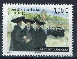 Andorra (French Adm.), Consell De La Terra, General Council Of Andorra, 2019, MNH VF  827 - French Andorra