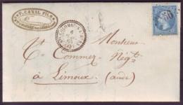 AUDE - LAC - Tàd T22 STE COLOMBE S L'HERS + GC 3556 Sur N° 22 Pour Limoux (10) - 1849-1876: Klassik