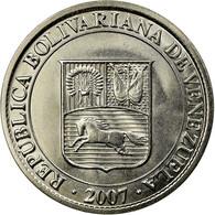 Monnaie, Venezuela, 12-1/2 Centimos, 2007, Maracay, SUP, Nickel Plated Steel - Venezuela