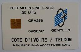 AFRICA - IVORY COAST - COTE D'IVORE - Gemplus Test - 20 Units - GPM256 - 09/26/97 - RARE - Côte D'Ivoire
