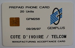 AFRICA - IVORY COAST - COTE D'IVORE - Gemplus Test - 20 Units - GPM256 - 09/26/97 - RARE - Ivoorkust