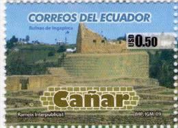 Lote EC84, Ecuador, 2009, Sello, Stamp, Cañar, Ruinas De Ingapirca, Indigenous Themes - Ecuador