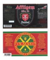 AFFLIGEM - BROUWERIJ DE SMEDT - OPWIJK - 2 BIERETIKETTEN  (BE 011) - Beer