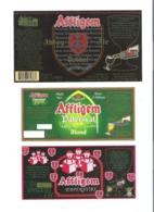 AFFLIGEM - BROUWERIJ DE SMEDT - OPWIJK - 3 BIERETIKETTEN  (BE 014) - Beer