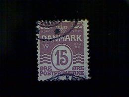 Denmark (Danmark), Scott #63, Used (o), 1905, Waves And Hearts, 15ø, Lilac - 1905-12 (Frederik VIII)