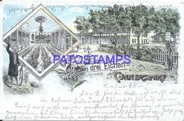 108183 GERMANY GRUSS CUNNERSDORF ART MULTI VIEW POSTAL POSTCARD - Germania