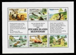 PITCAIRN ISLANDS 1990 - 200th ANNIV. Of The MUTINY On The BOUNTY In 1789  - Bloc 13 Mi 350-355 MNH ** Cv€9,00 V811 - Pitcairninsel