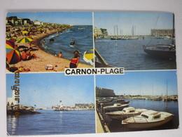 CP 34 CARNON PLAGE - Multivue > La Plage , Le Port 1975 - Frankreich