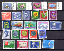 1957-62   Suisse, Timbres Neufs, Entre 586 Et 640**, Cote 149 €, - Suisse