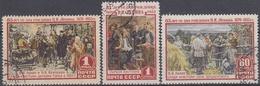 URSS / RUSIA 1955 Nº 1758/1760 USADO - 1923-1991 URSS