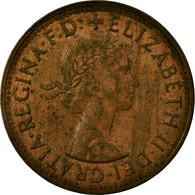 Monnaie, Australie, Elizabeth II, 1/2 Penny, 1961, TB+, Bronze, KM:61 - Monnaie Pré-décimale (1910-1965)